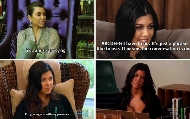 Kourtney kardashian you are so annoying gif