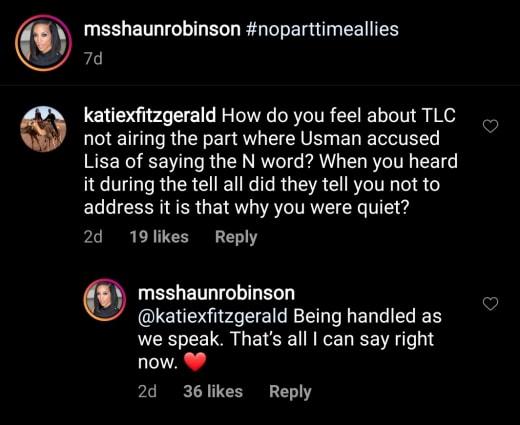 "Shaun Robinson says Baby Girl Lisa Hamme n-word is ""being handled"""