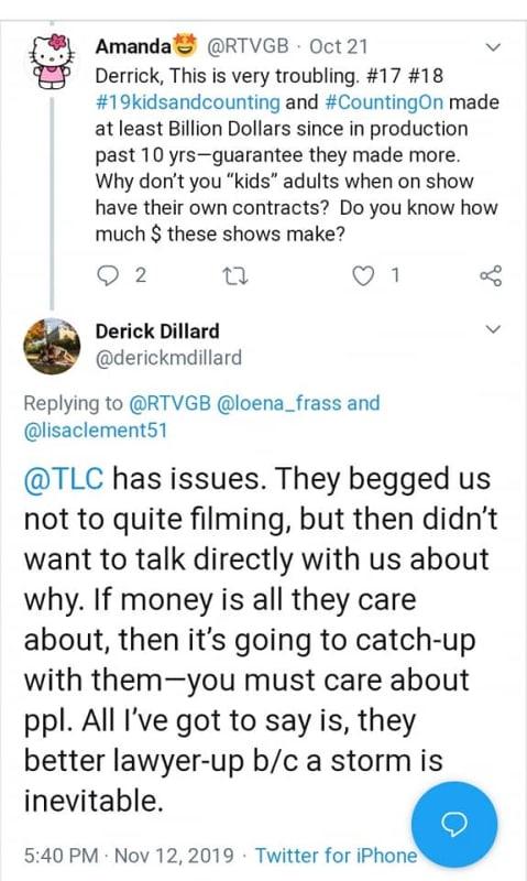 Dillard then threatened a lawsuit in response