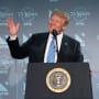 Donald Trump at Lectern