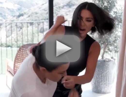 Kourtney and kim kardashian brawl leaves visible wounds in kuwtk