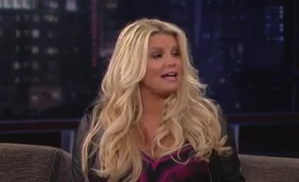 Jessica Simpson Visits Jimmy Kimmel Live, Previews Torrential Release of Amniotic Fluid