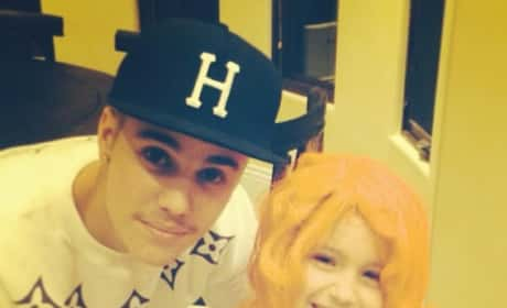 Justin Bieber with Sister