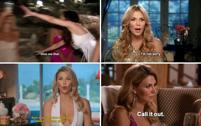 Brandi glanville finishes the bottle