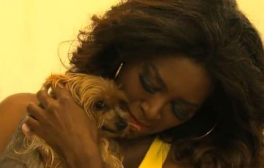 Kenya Moore and Dog Velvet