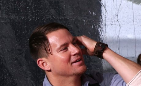 Channing Tatum Attends Quentin Tarantino's Hands and Footprints Ceremony