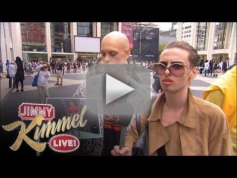 Jimmy Kimmel Fools New York Fashion Week Attendees