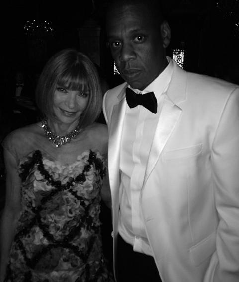 Anne Wintour and Jay Z