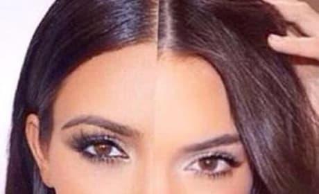 Kim Kardashian-Kendall Jenner Mashup