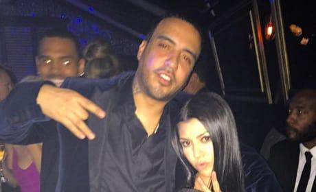 """French Montana and Kourtney Kardashian: Sean """"Diddy"""" Combs' Birthday"""