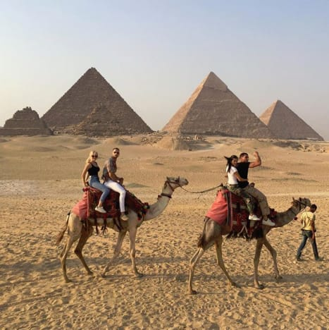 Kourtney Kardashian and Younes Bendjima in Egypt