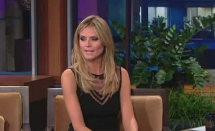 Heidi Klum Dances on Jay Leno's Desk