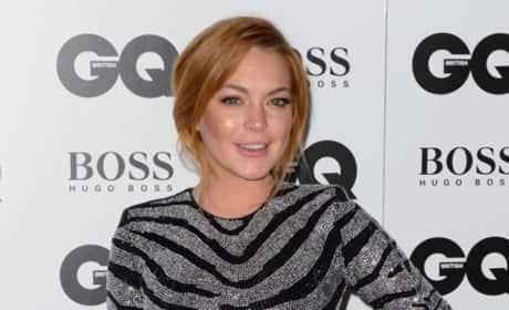 Lindsay Lohan at 2014 GQ Awards