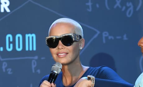 Amber Rose and Large Shades