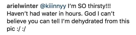 Ariel Winter Claps Back on Instagram