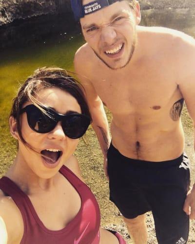 Sarah Hyland with Boyfriend Dominic Sherwood