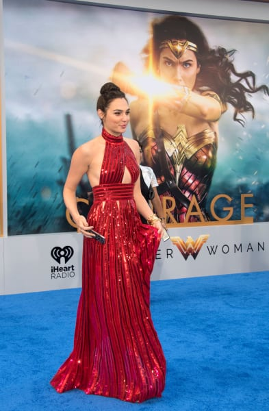 Gal Godot in Red for Wonder Woman