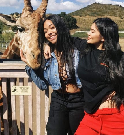 Kylie Jenner, Jordyn Woods, and Giraffe