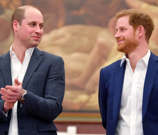 Le prince William et Harry