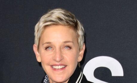 Ellen DeGeneres at Saint Laurent Fashion Show