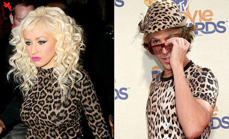 Who looks better in leopard print: Christina Aguilera or Bruno?