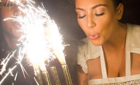 Kim Kardashian Birthday Photo