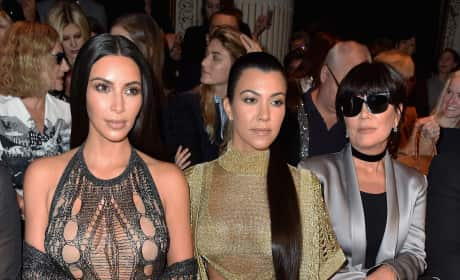 Kim Kardashian and Kourtney Kardashian in Paris