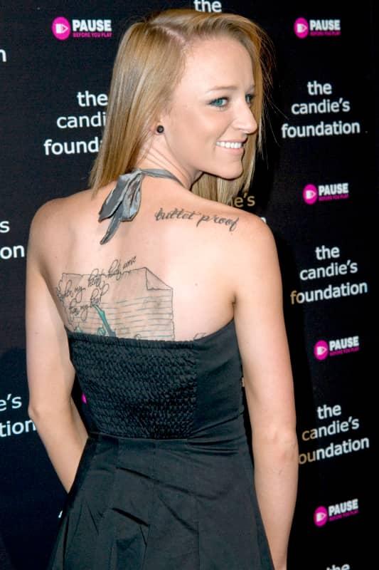 Maci Bookout Tattoos