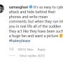 Sam asghari ig vs haters dec 2019