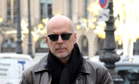 Bruce Willis on the Street