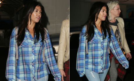 Kourtney Kardashian: Hiding Baby Bump?