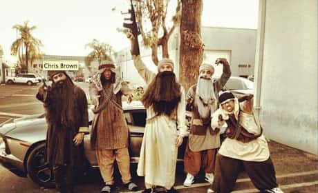 Chris Brown, Terrorist Costume