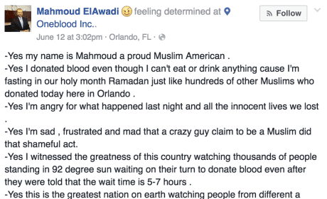 Muslim Donates Blood After Orlando Shootings