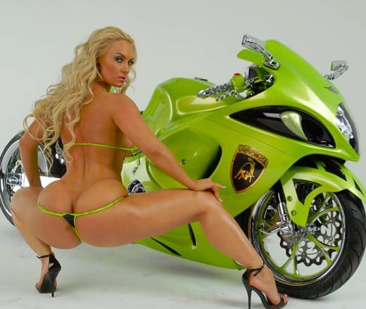 Coco Austin, Butt Pic for Motorcyle Mag