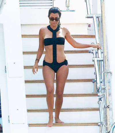 Kourtney Kardashian's Anchor Swimsuit