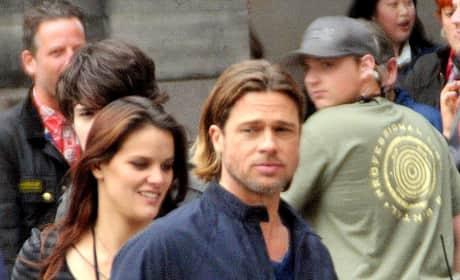 Brad Pitt Filming World War Z