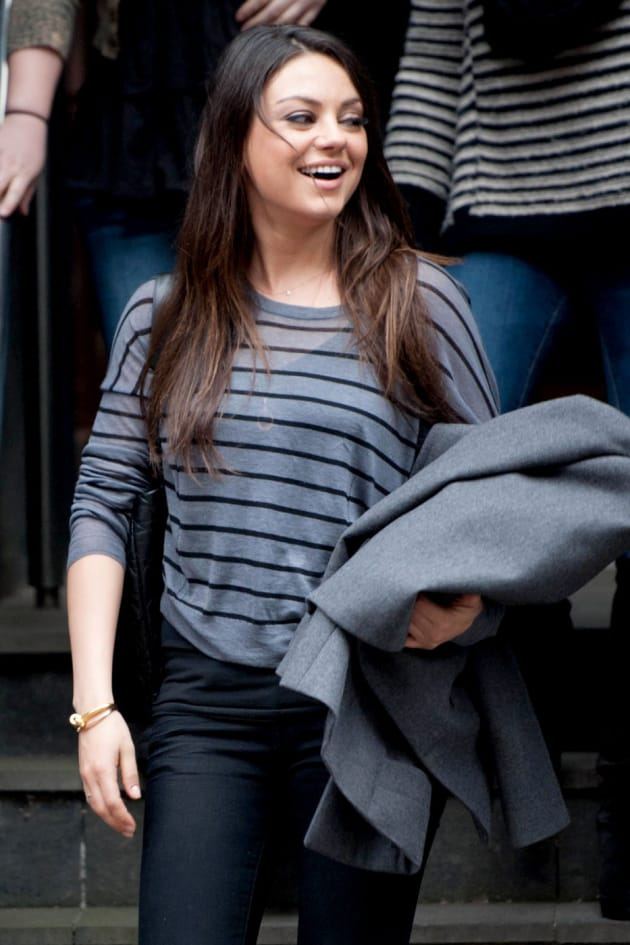 Mila Kunis in Scotland