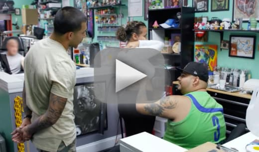Briana dejesus and javi marroquin watch them get matching tattoo