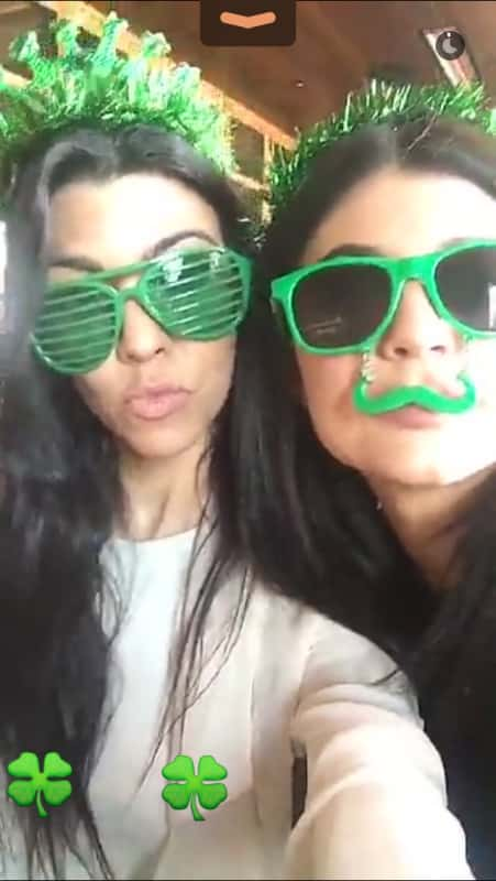 Kourtney and Kylie hammed it up