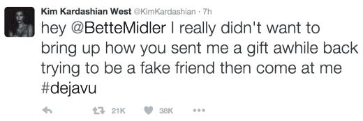 Kim Kardashian Tweets To Bette Midler