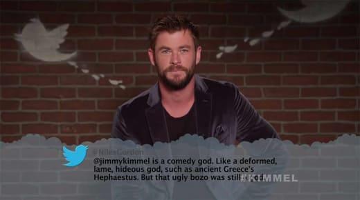 Kimmel Mean Tweets - Chris Hemsworth