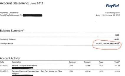 $92 Quadrillion: Deposited Into User's PayPal Account!