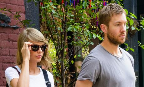 Taylor Swift with Calvin Harris