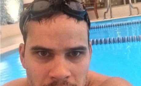 Kris Humphries in the Pool
