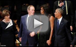 George Bush Dances To Battle Hymn Of The Republic During Dallas Memorial