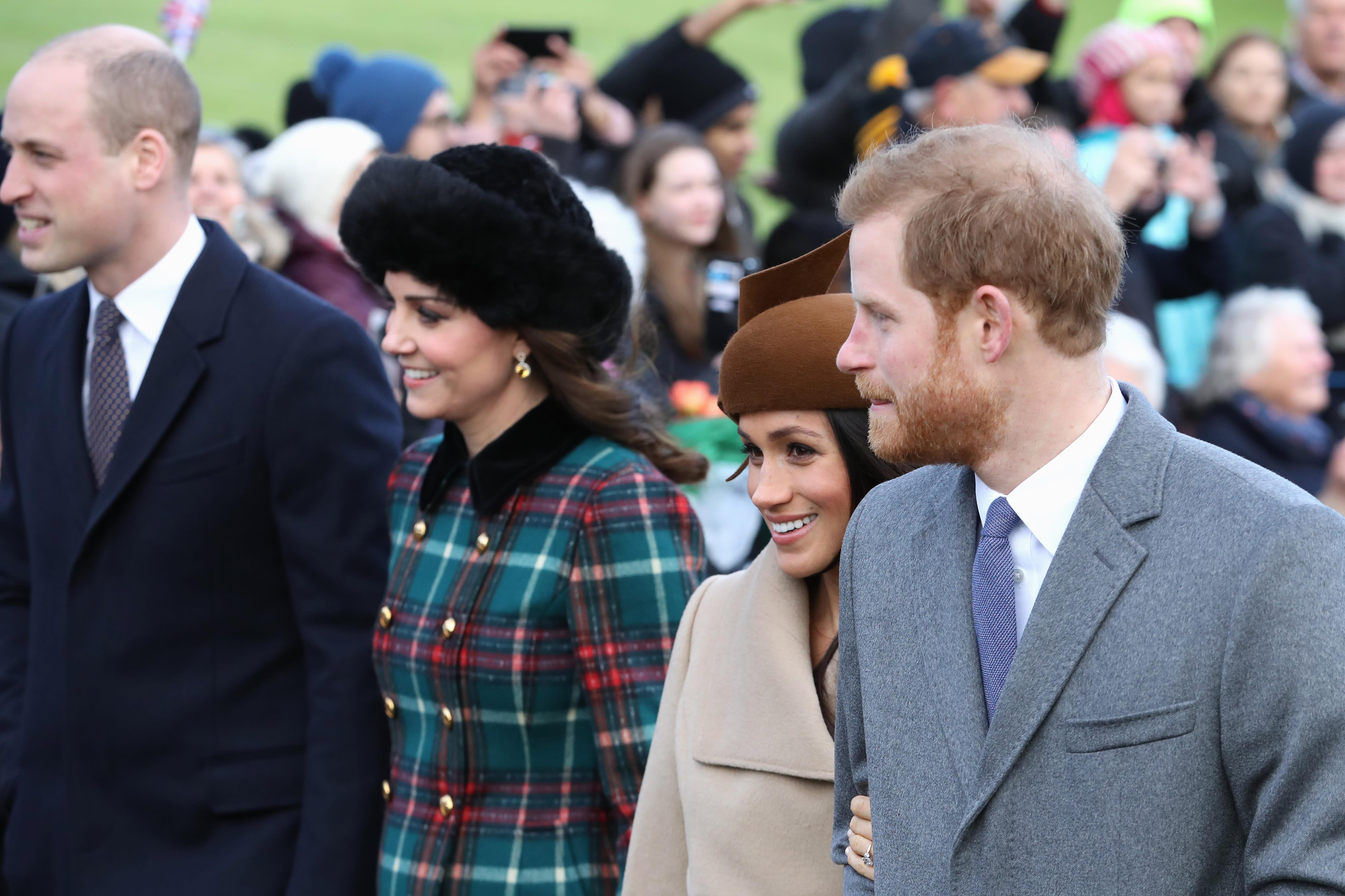 Royal Christmas.A Royal Christmas Meghan Harry Kate William Together