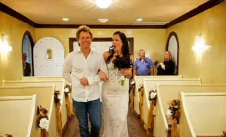 Bon Jovi Walks Bride Down the Aisle
