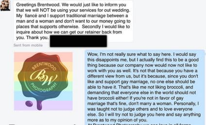 Photographer Loses Client Over Gay Marriage Stance, Posts Epic Reply