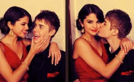 Justin Bieber With Selena Gomez Photo