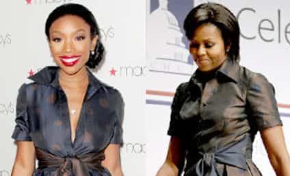 Fashion Face-Off: Brandy vs. Michelle Obama